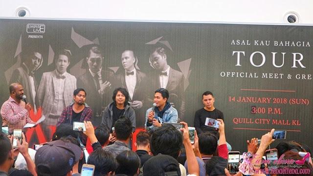 Meet And Greet Bersama Armada Band di Quill City Mall Kuala Lumpur