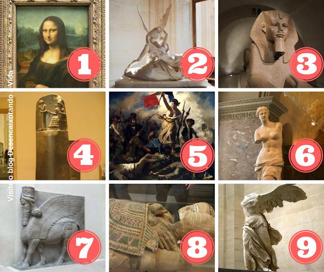 Obras _Museu do Louvre em Paris_ desencaixotando a vida