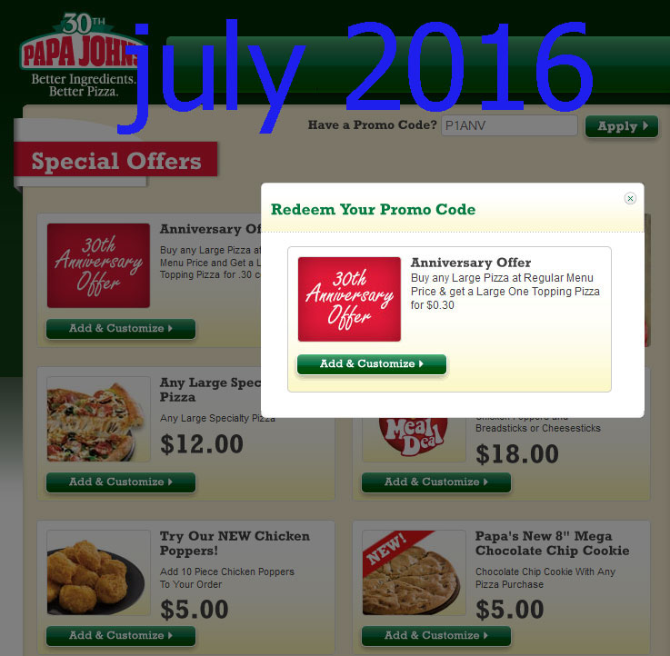 free printable coupons papa joes pizza coupons. Black Bedroom Furniture Sets. Home Design Ideas