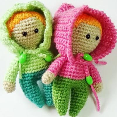 Пупс-куколка крючком амигуруми