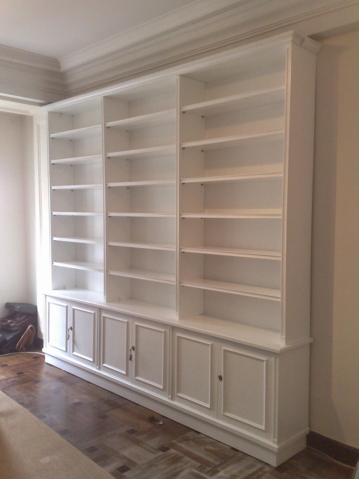 Librer as a medida en madrid muebles de madera fabritecma for Muebles librerias modernas