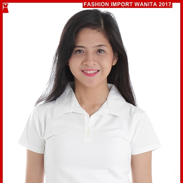 ADR112 Kaos Wanita Polo Putih Import BMGShop