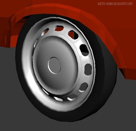 modelowanie 3ds max, fiat 125p, 3d model, model fiat 125p, 3ds max, image of fiat, kartonowo, 3d modeling, model kartonowy, papercraft, car modeling, 3ds max car