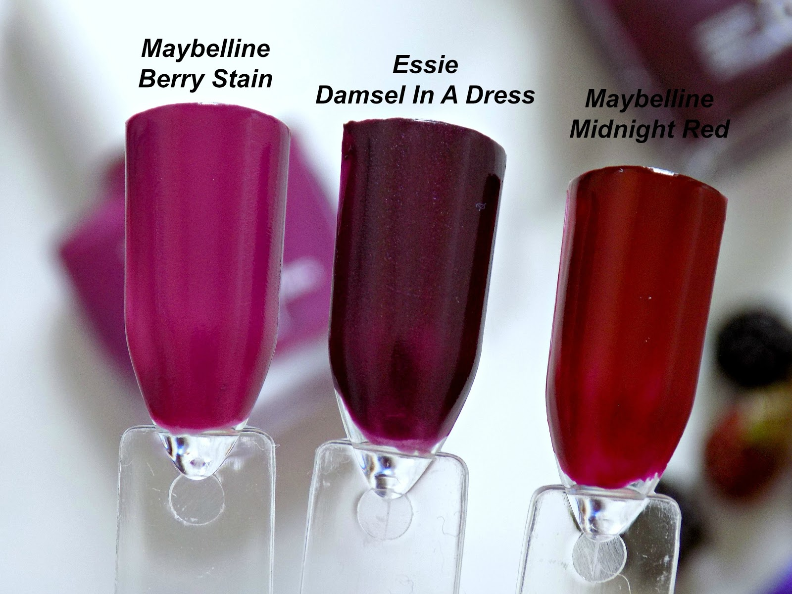 berry nail polishes swatches