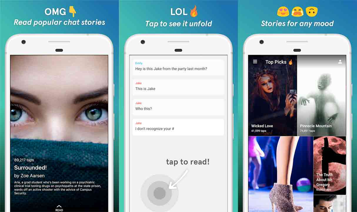 Apps For PC Set: Tap - Chat Stories by Wattpad Free