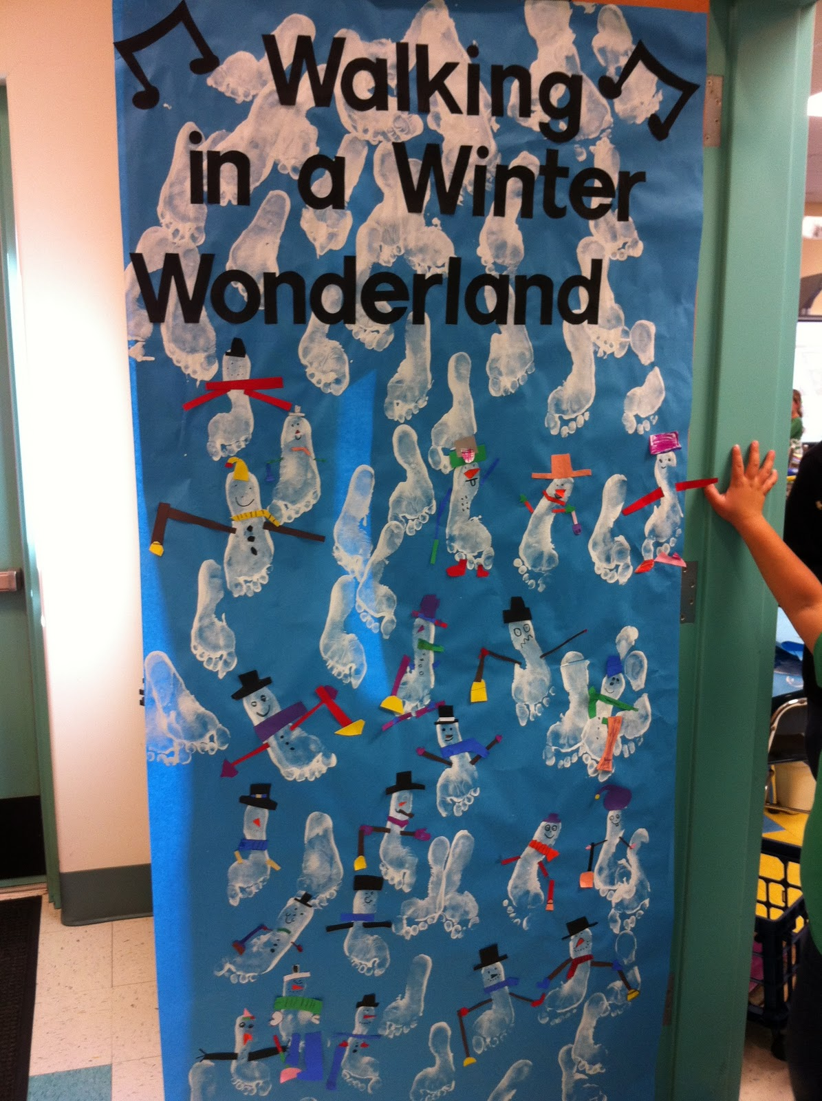 Winter Wonderland Themed Door Decorations Inside The 2015 White