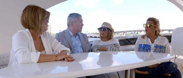 Boris izaguirre con las Campos en Miami