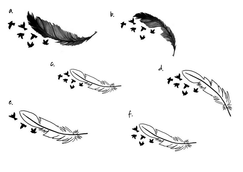 tatouage avec des oiseaux. Black Bedroom Furniture Sets. Home Design Ideas