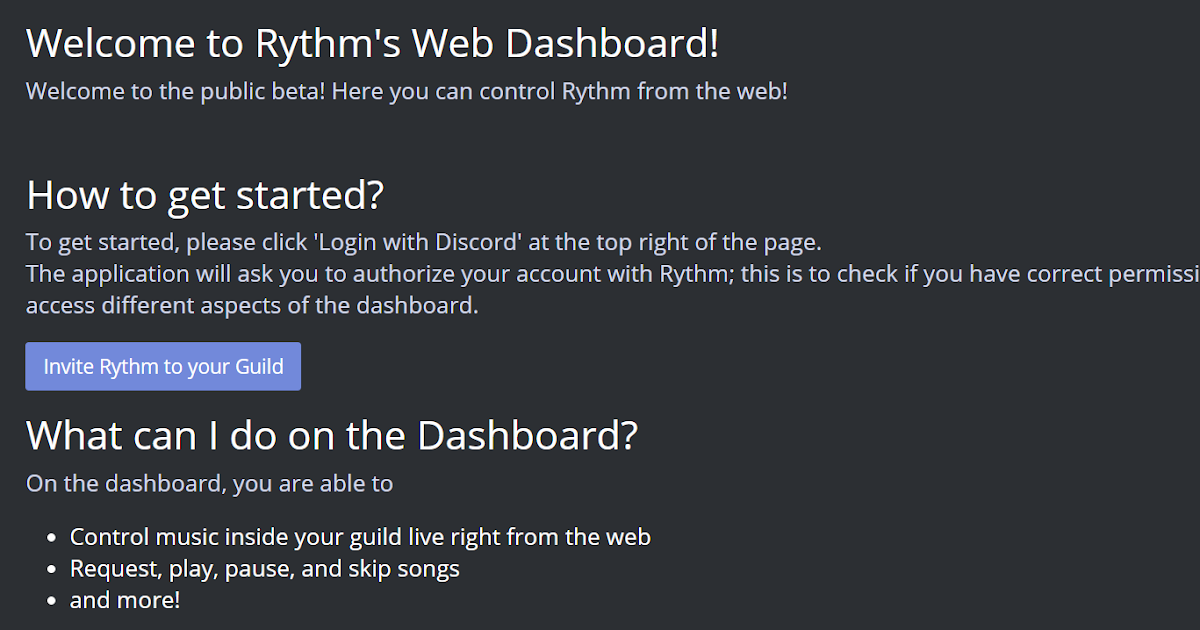 Your Recreational Blog: Rythm bot for discord