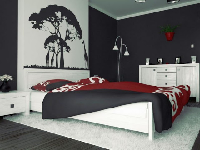 Stylish Red And Black Bedroom Stylish Red And Black Bedroom Stylish 2BRed 2BAnd 2BBlack 2BBedroom 2B7