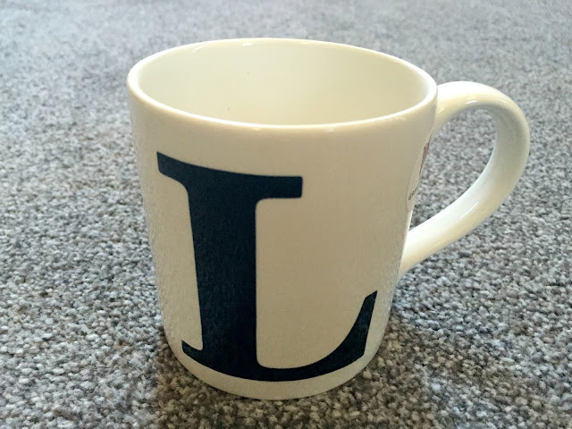intial L mug from Marks and spencers