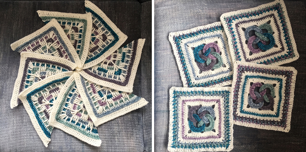 Labyrinth Celtic Mandala Blanket (overlay crochet)