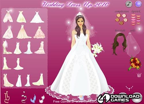 لعبة الموضة والفاشون تلبيس العروسة Wedding Dress Up 2010 مجانا