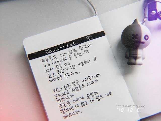 "Forever Rain - ""영원히 rain ""  RM - mixtape mono - bt21 van"