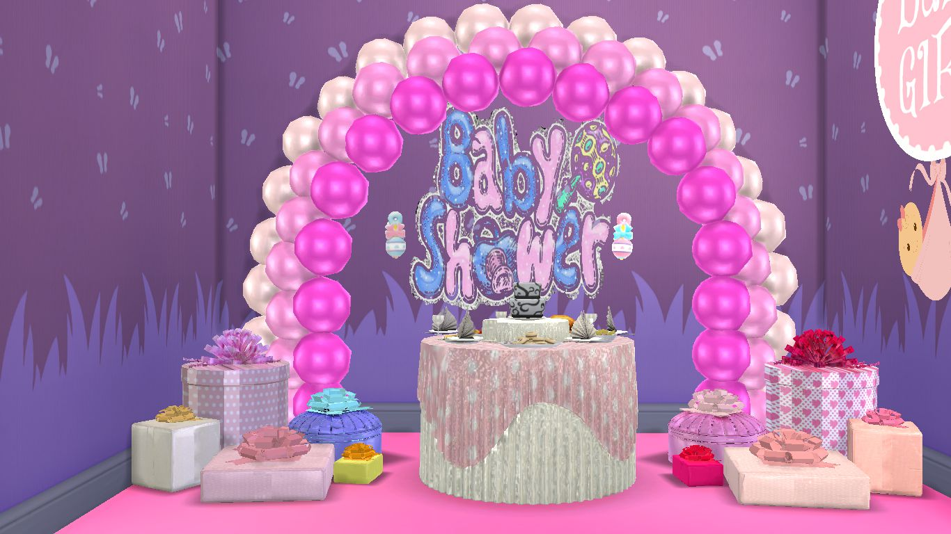 Sims 4 CC Download : Bundle Of Joy Baby Shower Party Items ...