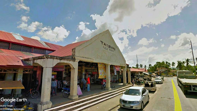 The Public Market in Taysan, Batangas.  Image source:  Google Earth Street View.