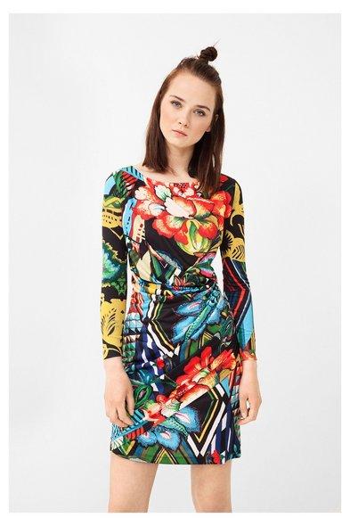 Desigual sukienka z motywem kwiatowym, hiszpańska marka, moda z Hiszpanii, blog modowy