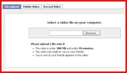 how to upload a video on facebook page