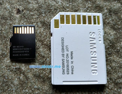 Samsung microSDXC EVO Plus Class-10 UHS-I MB-MC64D Made in Korea, Adapter Made in China