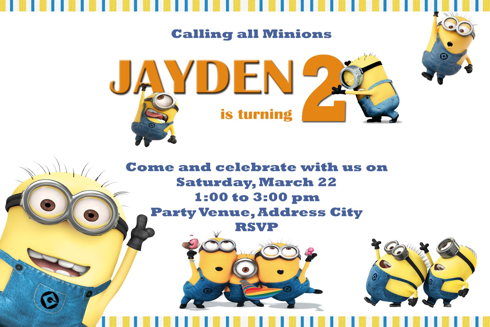 Moms kiddie party link minions party invites sample stopboris Images