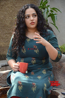 Nithya Menen promotes her latest movie in Green Tight Dress ~ Exclusive Galleries