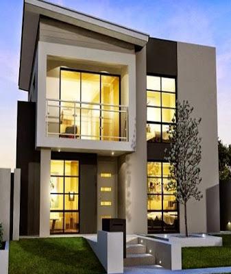 gambar tampak depan rumah minimalis 2 lantai lebar 6 meter