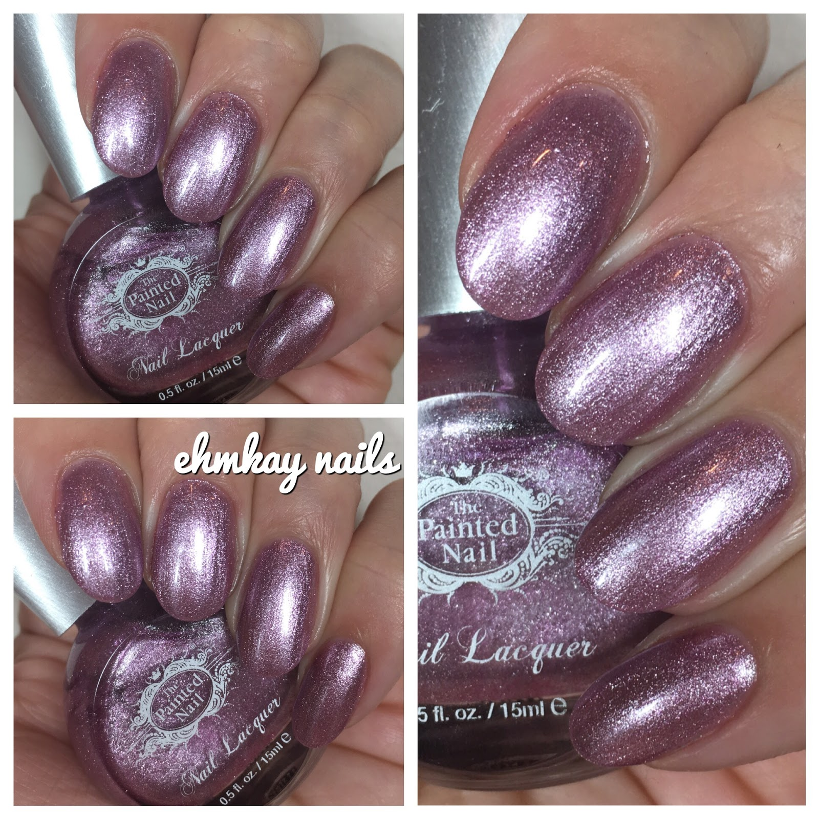 ehmkay nails: The Painted Nail Purple-Pink Shimmer
