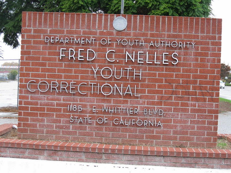 entrance sign of the Fred C. Nelles Youth Authority