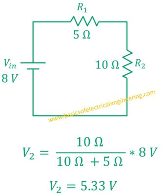 voltage-divider-example-with-5-and-10-ohm-resistor