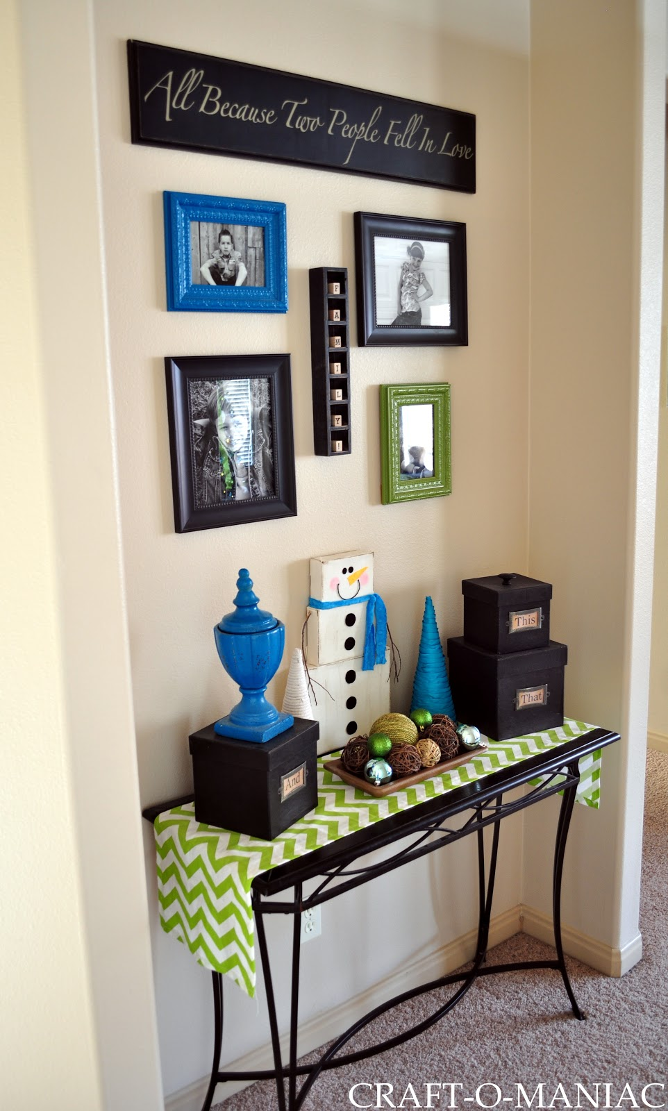 home decor gallery wall nook craft o maniac. Black Bedroom Furniture Sets. Home Design Ideas