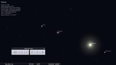 screenshot keadaan bumi venus matahari
