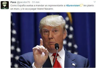Meme de Manel Navarro y Trump