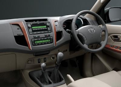 Interior Toyota Fortuner Gen1 Facelift