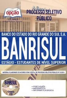Apostila Concurso BANRISUL 2019 PDF - Estágio
