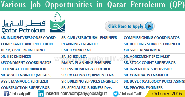 Qatar petroleum company jobs