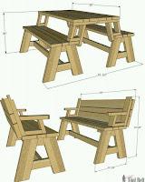 plano para mesa de picnic