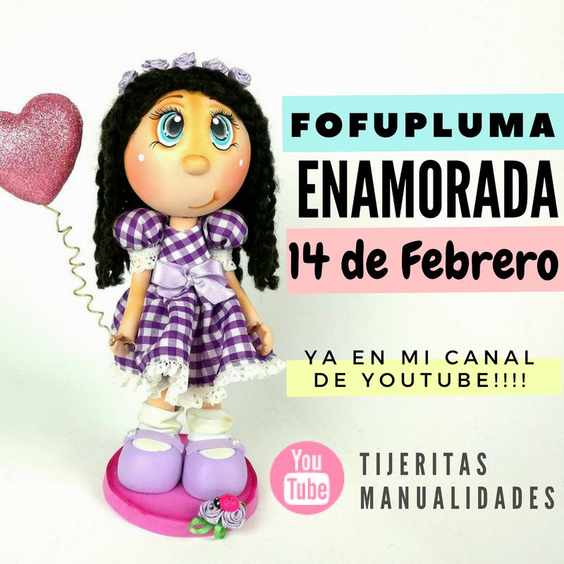 62b2fb5c7a3 DIY   FOFUPLUMA ENAMORADA   14 DE FEBRERO  SAN VALENTIN   FACIL Y RAPIDO