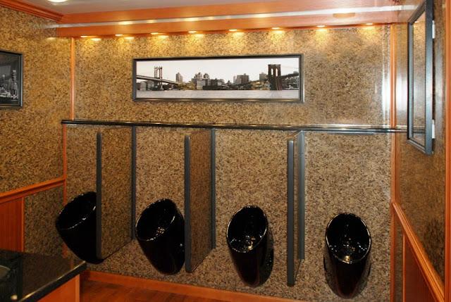 """""""The Manhattan"""" Luxury Restroom Trailer Urinals"""