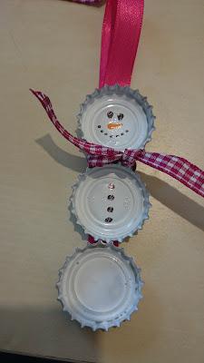 DIY Schneemann aus Kronkorken