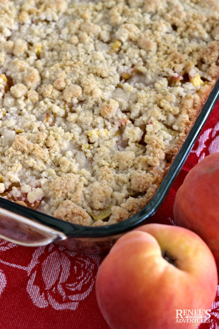 Pan of Easy Peach Crumbs Bars