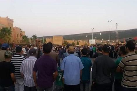 وقفة احتجاجية تطالب بإطلاق سراح طالب بدمنات