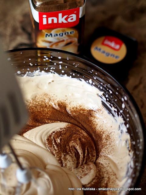 rolada bezowa z kremem kawowym, najlepsza beza, krem kawowy, deser, dzien matki, ulubiony deser mamy, ciasto dla mamy, kawa inka, inka z magnezem, kawa zbozowa, przepis na beze, blat bezowy, dla mojej mamy