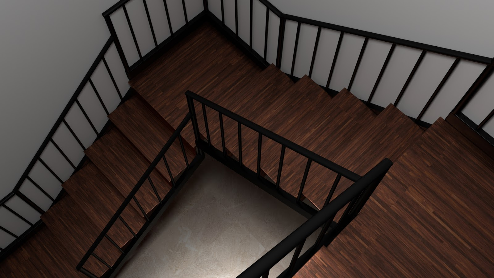 Free 3D Wood Stairs .blend file
