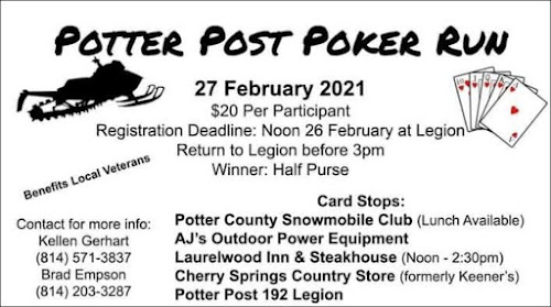 2-26/27 Potter Post Poker Run