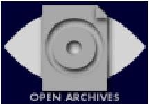Logo de la Open Archives Initiative. Es una especie de disquete antiguo estilizado sobre un rombo tumbado, a la manera de un ojo.