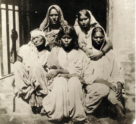 Bengali Hindu Women in Prison in Alipur  (Now in West Bengal, Kolkata) - c1856