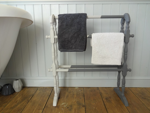 vintage towel rail upcycle