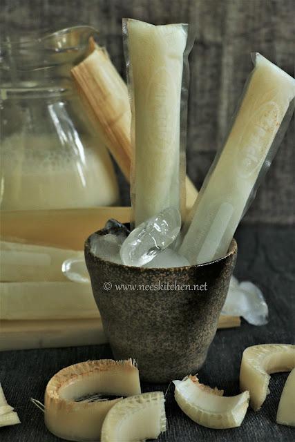Vazhaithandu Neer Mor Icepops | Banana Stem Buttermilk Icepops
