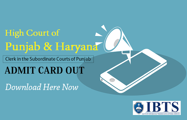 High Court of Punjab & Haryana Admit Card Out - Download Now