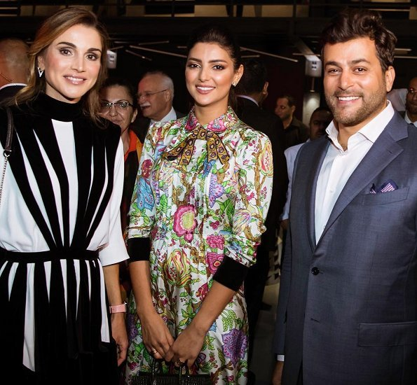 Design Moves Life Moves Design. Queen Rania launched Amman Design Week (ADW2017) at Ras El Ain Hangar